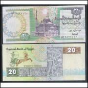 Egito (P.52c), 20 Pounds, 1994, soberba. Mesquita.