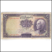 Irã (P.33A), 10 Rials, 1938, REZA SHAH, mbc.
