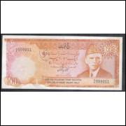Paquistão (P. R7), 100 Rupees, 1975/78, emissão Haj Pilgrims, para uso na Arábia Saudita.
