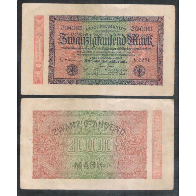 Alemanha (P.85) - 20.000 Mark, 1923, soberba.