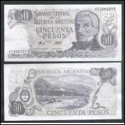 Argentina (P.301) - 50 Pesos, 1976/78, série B, fe.