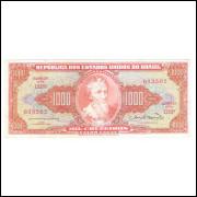 C106 - 1.000 Cruzeiros, 1963, Valor Legal, Reginaldo F. Nunes - Miguel Calmon, mbc+. Pedro A. Cabral