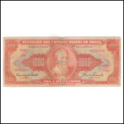 C105 - 1.000 Cruzeiros, 1960, Valor Recebido, Carlos A. Carrilho, bc/mbc. Pedro A. Cabral