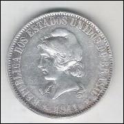 1911 - 2000 Réis, prata, mbc/s.