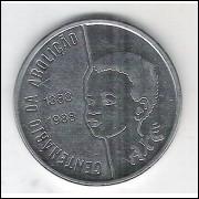 1988 - 100 Cruzados, Filho, Centenário da Abolição, s/fc