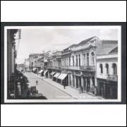 CTB66 - Cartão postal antigo, Curitiba, Rua 15 de novembro.