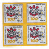 2010 - C-3028B - Centenário do Corinthians. Futebol. Selo em tecido, quadra. Acompanha folder.