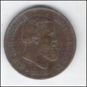 1869 - Brasil-Império, Dom Pedro II, 20 Réis, bronze, mbc