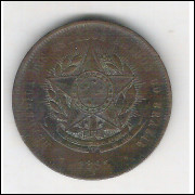 1895 - Brasil, 20 Réis, bronze, mbc+